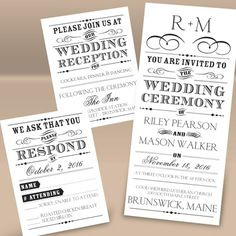 Separate and Send Invitation - maybe fuschia or sangria colored text. Plain clean simple