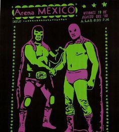 www.brokencherry.com #customapparel #customtshirts #tshirts #makeatshirt #luchalibre #luchadores #mexicanwrestling #mexicano  Mexican Wrestling Poster Transfer  $12.00