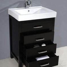 Home Decorators Collection Cedarton 24 in. W x 18 in. D Vanity in Espresso with Vitreous China Vanity Top in White and Basin-HCCEDARTON24 - The Home Depot