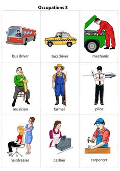 Kids Pages - Occupations 3 (can be used as memory cards) English Lessons For Kids, Kids English, English Study, English Words, Learn English, English Teaching Materials, Teaching English, English Grammar Worksheets, English Vocabulary