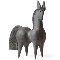 Ceramic Horse Sculpture by Dominique Pouchain
