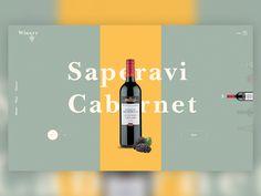 Wine Website Concept by Giga Tamarashvili #Design Popular #Dribbble #shots