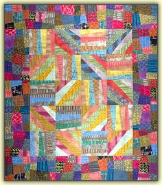 """""""Simply Delicious"""", 84 x 98"""", pattern by Cheryl Wittmayer:  """"Cutting through six and nine layers at a time makes this simple, fast and fun"""" (14˝ blocks)"""