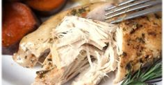 Pinner's results: slow cooker chicken with herbs-- came out perfect. 5 hours on low. Best crockpot chicken so far. | things I like | Pinterest | Slow Cooker Ch…