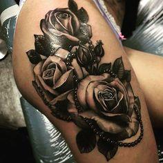 Leg Tattoos For Girls Designs Roses Thigh Tattoo Designs For Girls