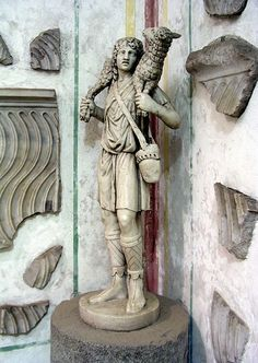 The Good Shepherd, c. 300-350, at the Catacombs of Domitilla, Rome