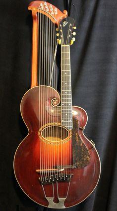 1918 Gibson U Model Harp Guitar