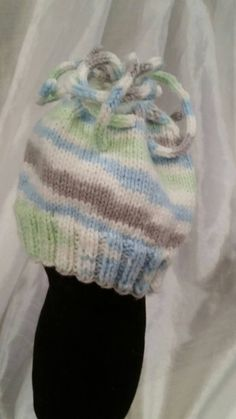 Knitted newborn hat and mittens for baby boy by LaceMarketKnits on Etsy