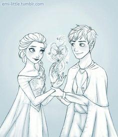 Jack and Elsa - the Ice Queen & Winter Spirit.