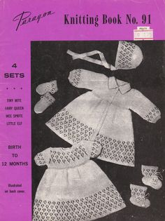 Vintage 1960s  Paragon Knitting Book No 91 for by jennylouvintage