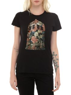 Doctor Who Floral TARDIS Girls T-Shirt