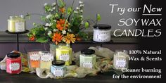 A variety of scents to choose, comes in 3 different sizes and candle melts! Visit http://amishcountrydecorandmore.com/sweet-scents.php
