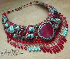 Design of the day - beautiful fuchsianecklace Gulnara by Oksana Hmelenko (clevergirl.livemaster.ru)