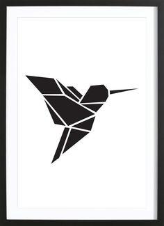 Origami Kolibri as Framed Premium Poster by Eulenschnitt | JUNIQE