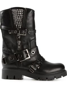 Shop Baldan studded buckled biker boots in Biondini Paris from the world's best independent boutiques at farfetch.com. Over 1000 designers from 60 boutiques in one website.