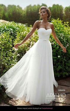 "Wedding dress ""Dinara"" by Ariamo Bridal —. - best day of my life - Mariage Robe Western Wedding Dresses, Evening Dresses For Weddings, Lace Weddings, Dream Wedding Dresses, Bridal Dresses, Wedding Gowns, Bridesmaid Gowns, Tulle Wedding, Strapless Wedding Dresses"