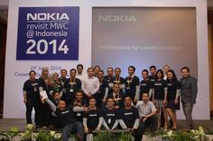 Happy smiles of team #NokiaNetworks after #RevisitMWC #Indonesia for #Telkomsel #Smartfren & #Hutch