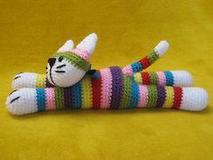 Ravelry: Moe The Stripey Cat Amigurumi Toy Striped Kitten Kitty pattern by Millionbells