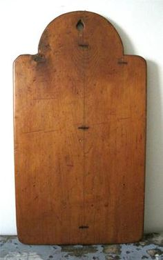 Antique 19thC Tombstone Board Make do Repair AAFA Primitive Folk Art Dough Bread | eBay