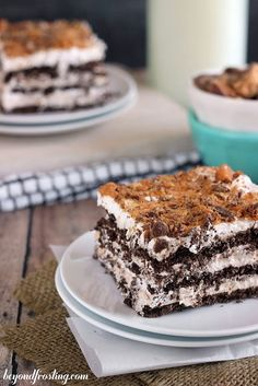 "It's been a little while since I made you an Icebox Cake. I have been making plenty of no-bake recipe lately, but this Butterfinger Icebox Cake is pretty freaking awesome. I contemplated calling this ""Butterfinger Lasagna"" since my Apple Pie Lasagna, Pumpkin Pie Lasagna and Peppermint Lasagna have all been so popular with my readers. …"