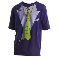 Joker Costume T-Shirt DC Comics Superhero Dark Knight Movie Batman Returns