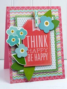 Handmade cards for spring featuring @Pebbles Inc. Garden Party collection