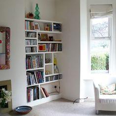 Alcove Shelves for the living room Alcove Bookshelves, Alcove Shelving, Built In Shelves, Bookshelf Ideas, Book Shelves, Bookcase, Living Room Cupboards, Living Room Storage, Home Living Room