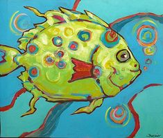 Whimsical Fish Paintings | ... paintings http www staugustineart net beachy whimsical paintings html