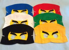 Ninjago Felt Mask. Set include 6 masks by miriamsolano on Etsy