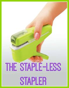 staple free stapler from Kokuyo – a beautiful space Shut up and take my money! It's eco friendly, thrifty and great for shredders! The stapleless staplerShut up and take my money! It's eco friendly, thrifty and great for shredders! The stapleless stapler Eco Friendly Water Bottles, Eco Friendly Cleaning Products, Green Living Tips, Take My Money, Natural Lifestyle, Cool Inventions, Green Life, Sustainable Living, Sustainable Gifts