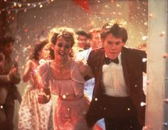 Awesome 80's prom outfits #2 - I had her dress in light blue for my junior prom. When I saw it in the movie, I was so excited, and wished that I had found mine in pink, too.