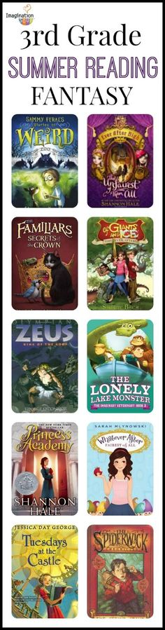 3rd Grade Summer Reading List for Kids who LOVE Fantasy (ages 8 - 9)