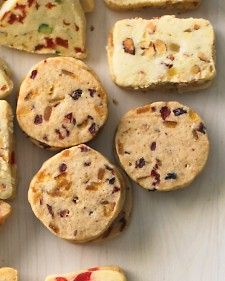 -cookie variations: Almond-Cherry Coins Apricot-Pistachio Triangles ...