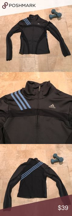 Adidas Jacket Excellent condition. Lightweight. ClimaCool. Thumb holes. Two front zip pockets. Adidas Jackets & Coats