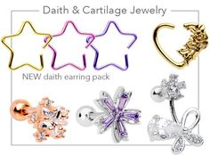 Tragus Piercing Jewelry, Daith Earrings, Tragus Piercings, Body Jewelry, Jewellery, Elegant Chandeliers, Body Modifications, Candy, Body Mods
