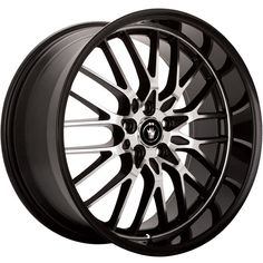Konig Lace 17x8 5x112 +45mm Black Wheels Rims LA78512455 #Konig