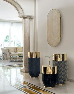 SPECCHIO | MIRROR » MIRAGE BORDO | EDGES » BRIGHT LIGHT GOLD ANTE RIVESTITE | DOORS COVERED » LONGHI