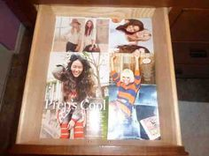 Magazines as drawer liners--genius!