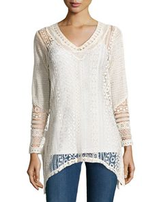 Isabella Long-Sleeve Tunic, Natural by XCVI at Neiman Marcus Last Call.