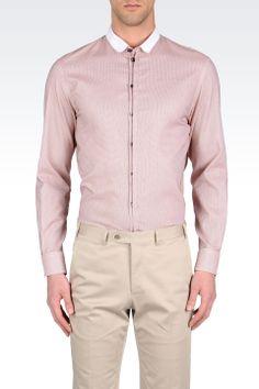 NUOVA linea uomo Emporio a maniche lunghe Check Camicia Smart Casual Formale