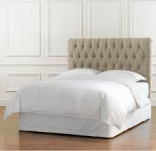 RHu0027s Wallace Fabric Headboard With Nailheads:Wallace Features A Linear  Silhouette And Copious Padding.