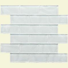 Merola Tile Tessera Ripple 11-3/4 in. x 11-3/4 in. Super White Glass Mosaic Wall Tile-GITTRPSW at The Home Depot