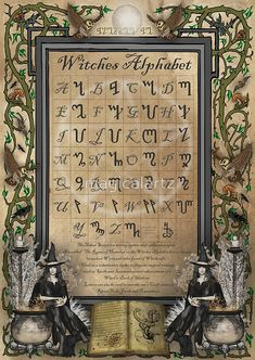 Witches Alphabet