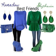 """""""Ravenclaw-Slytherin Best Friends"""" by nearlysamantha on Polyvore"""