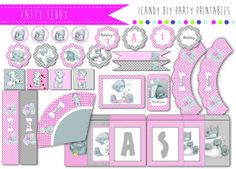 TATTY TEDDY BIRTHDAY PARTY PRINTABLES BABYSHOWER  https://www.facebook.com/icandydiypartyprintables