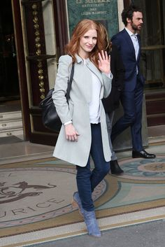 Jessica Chastain Paris Fashion Week 2013 | Pictures