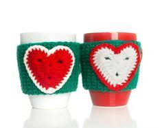 Christmas Crochet Mug Cozy / Mug warmer by LittleKnittedThing