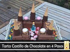 Tarta en forma de Castillo en 4 pasos Nutella, Birthday Candles, Birthday Cake, Cheesecake, Gingerbread, Candy, Christmas Ornaments, Holiday Decor, Fun