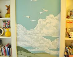 Henry's Vintage Travel Mural — Small Kids, Big Color Entry # 16 | Apartment Therapy