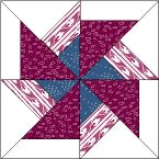 Good Pattern Demo Dbl Pinwheel  Made with Trapezoids!  ?